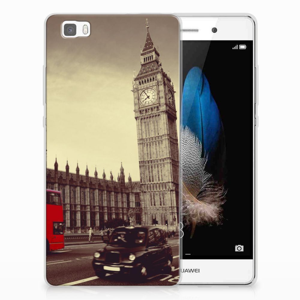Huawei Ascend P8 Lite Siliconen Back Cover Londen