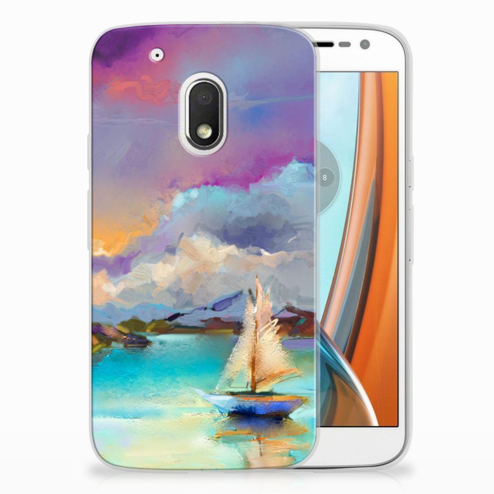 Motorola Moto G4 Play Uniek TPU Hoesje Boat
