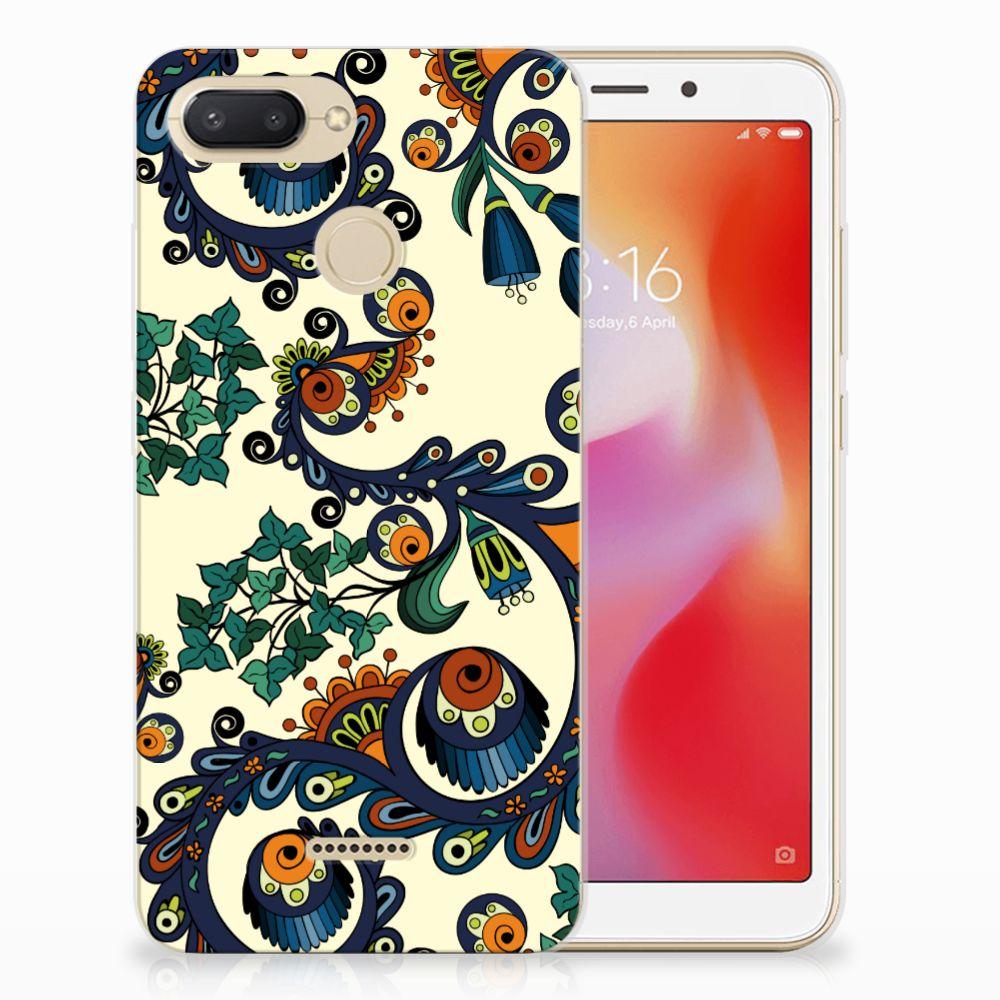 Siliconen Hoesje Xiaomi Redmi 6 Barok Flower