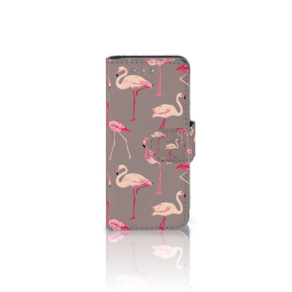 Samsung Galaxy S4 Mini i9190 Uniek Boekhoesje Flamingo
