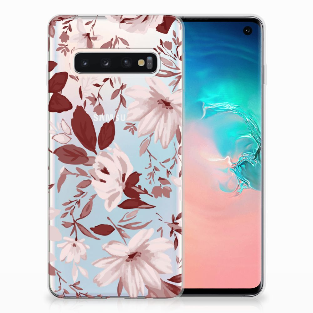 Samsung Galaxy S10 Uniek TPU Hoesje Watercolor Flowers