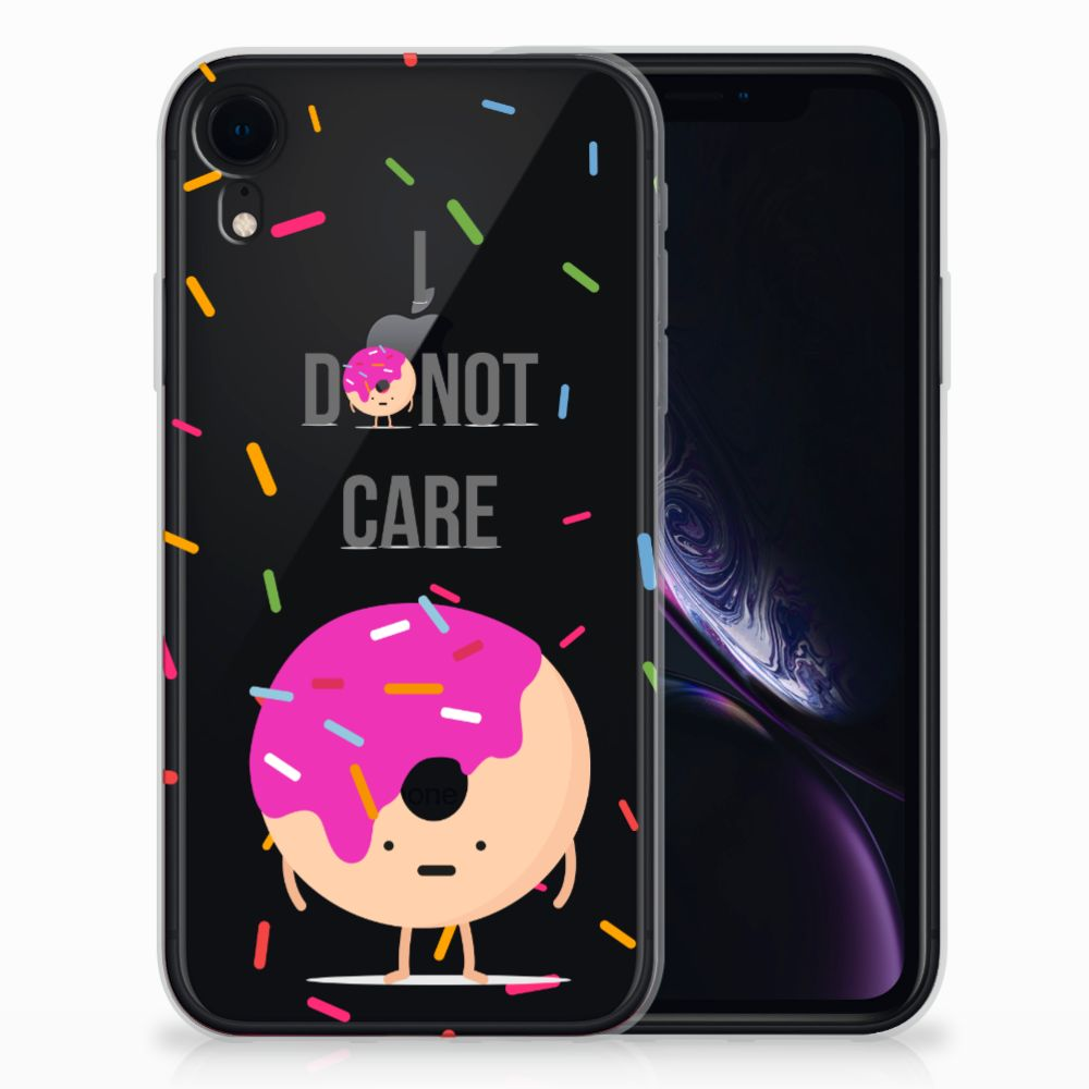 Apple iPhone Xr Siliconen Case Donut Roze