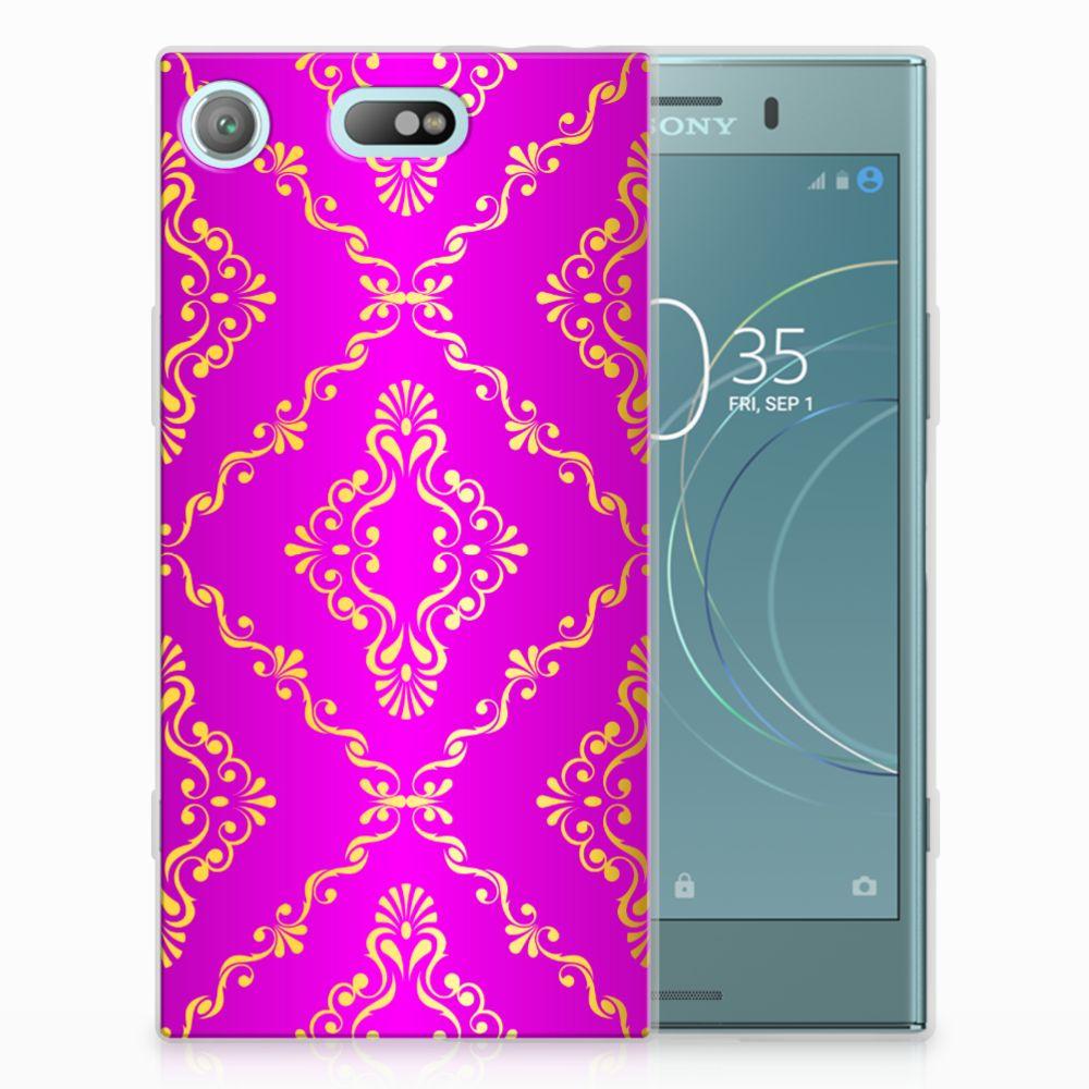 Siliconen Hoesje Sony Xperia XZ1 Compact Barok Roze