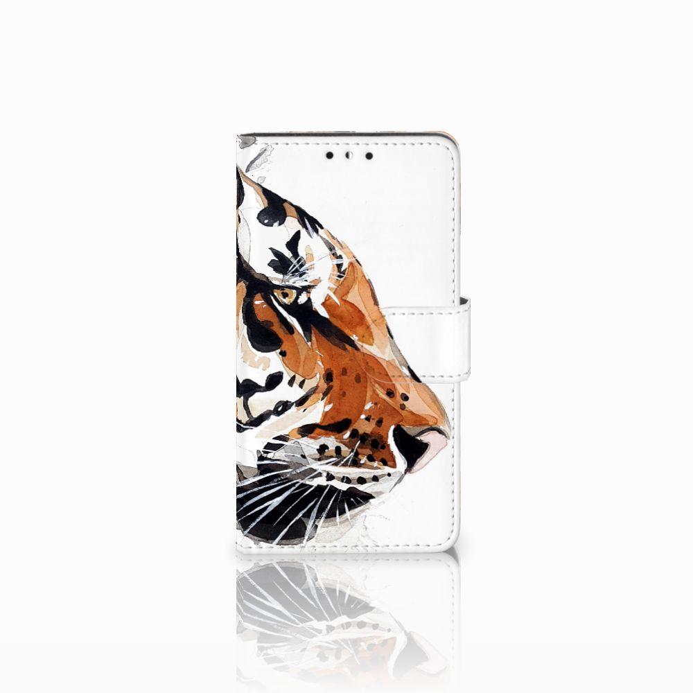 Huawei Y5   Y6 2017 Uniek Boekhoesje Watercolor Tiger
