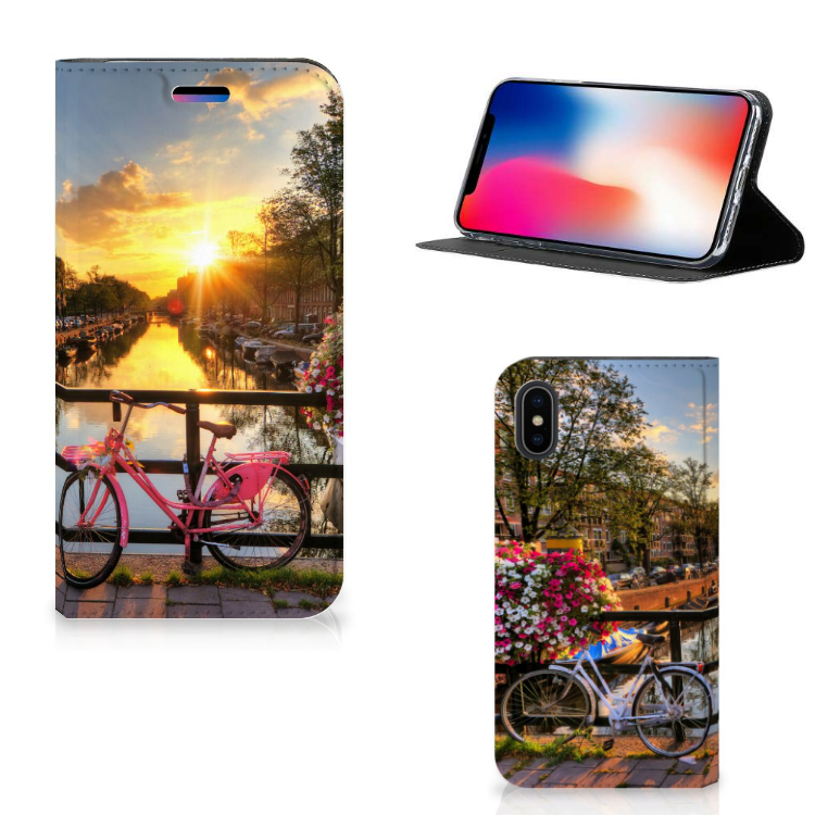 Apple iPhone X | Xs Book Cover Amsterdamse Grachten