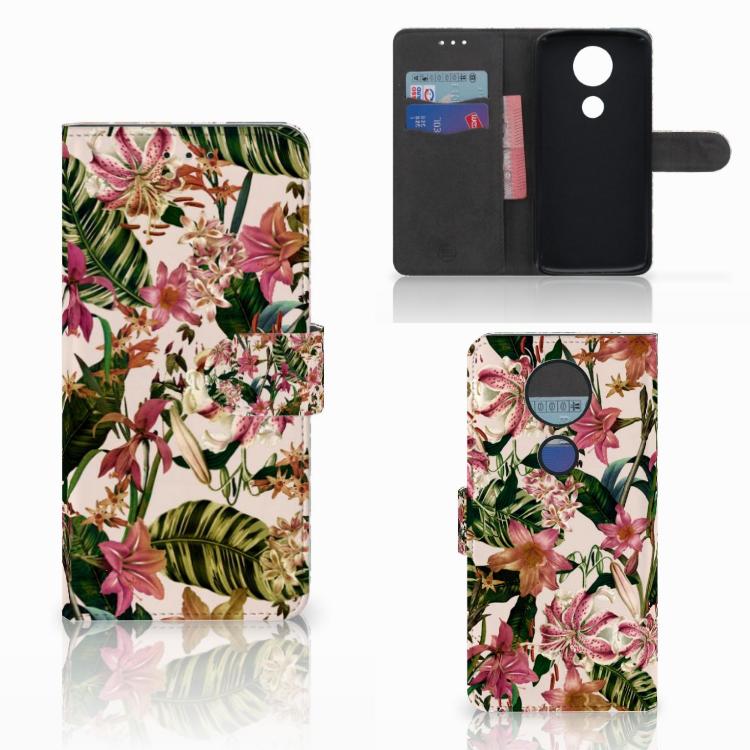 Motorola Moto E5 Plus Hoesje Flowers