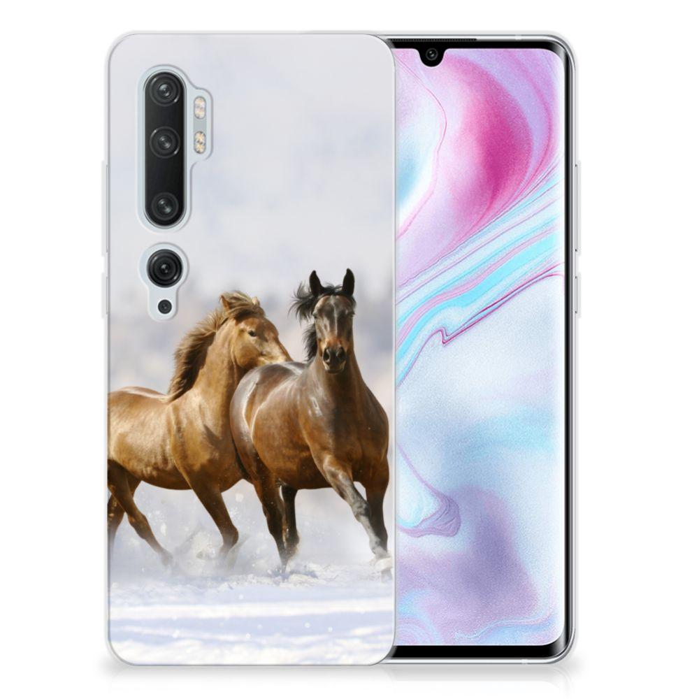 Xiaomi Mi Note 10 Pro TPU Hoesje Paarden