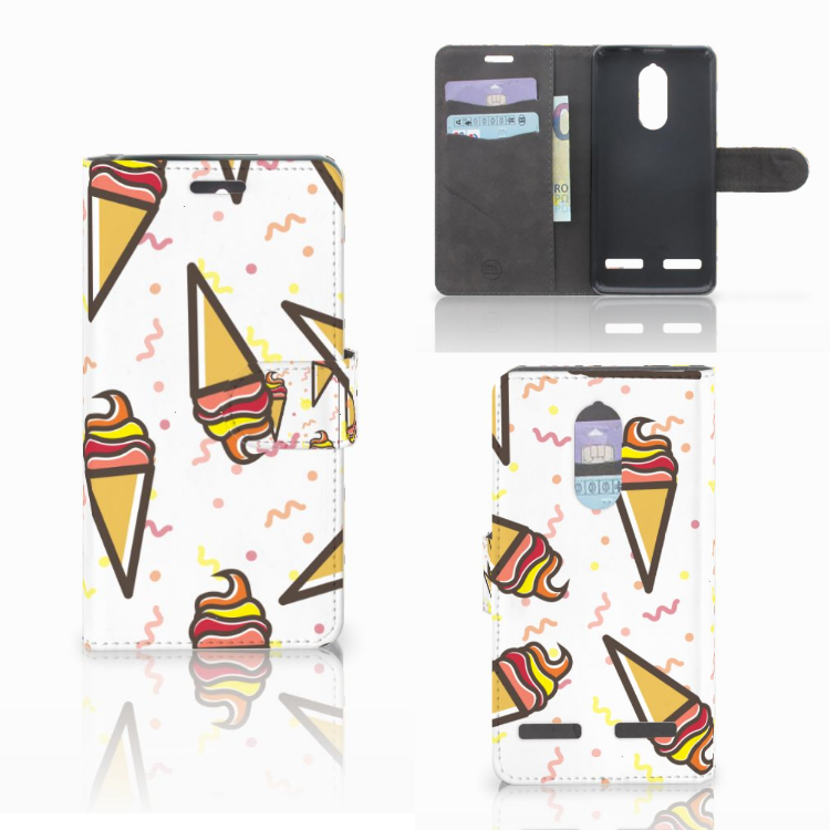 Lenovo K6 Book Cover Icecream