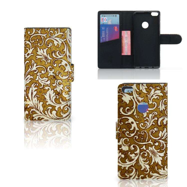 Wallet Case Huawei P8 Lite 2017 Barok Goud