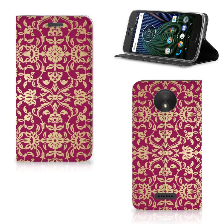 Telefoon Hoesje Motorola Moto C Plus Barok Pink