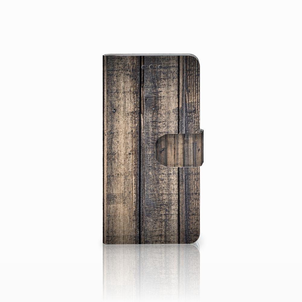 HTC U Play Boekhoesje Design Steigerhout