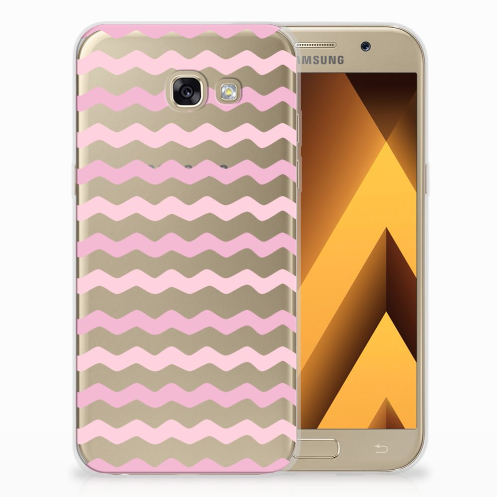 Samsung Galaxy A5 2017 Uniek TPU Hoesje Waves Roze