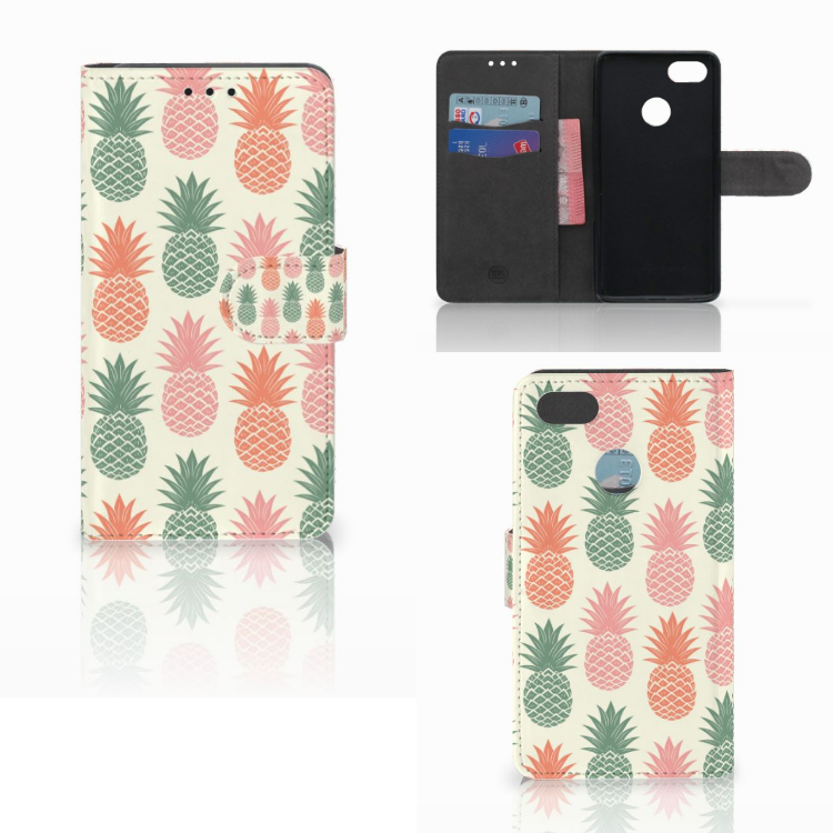 Huawei Y6 Pro 2017 Book Cover Ananas