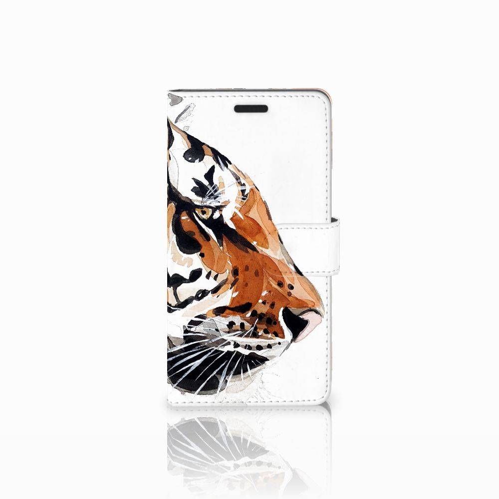 Samsung Galaxy A7 2015 Uniek Boekhoesje Watercolor Tiger