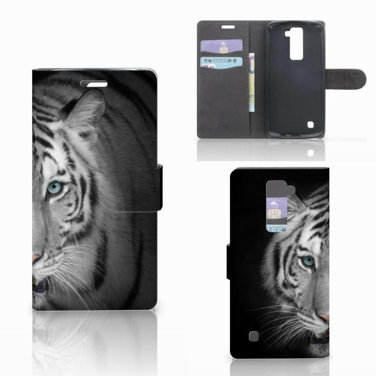 LG K10 2015 Telefoonhoesje met Pasjes Tijger