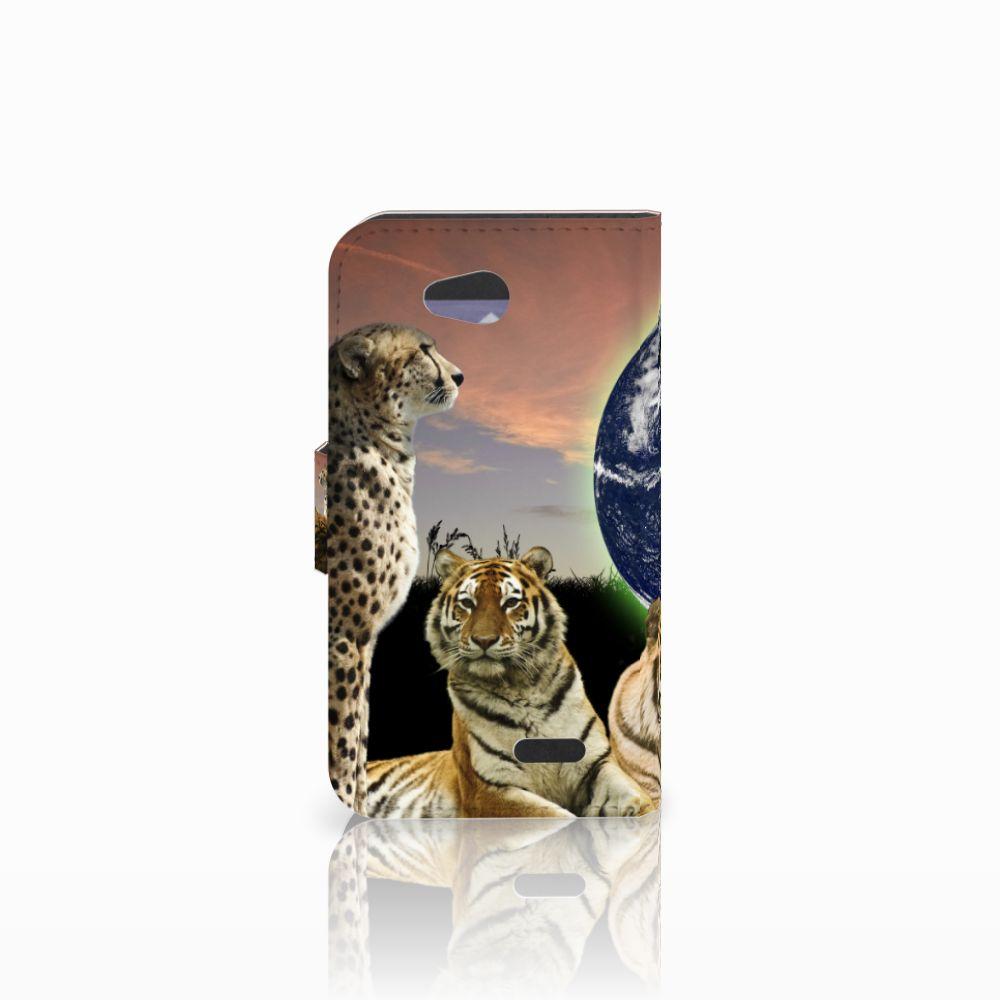 LG L90 Telefoonhoesje met Pasjes Roofdieren