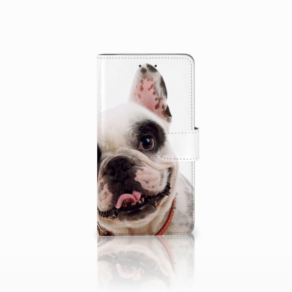 Samsung Galaxy J7 2016 Uniek Boekhoesje Franse Bulldog
