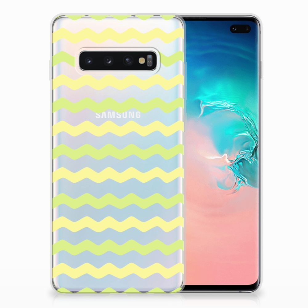 Samsung Galaxy S10 Plus TPU bumper Waves Yellow