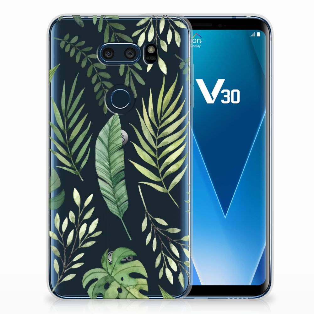 LG V30 TPU Case Leaves