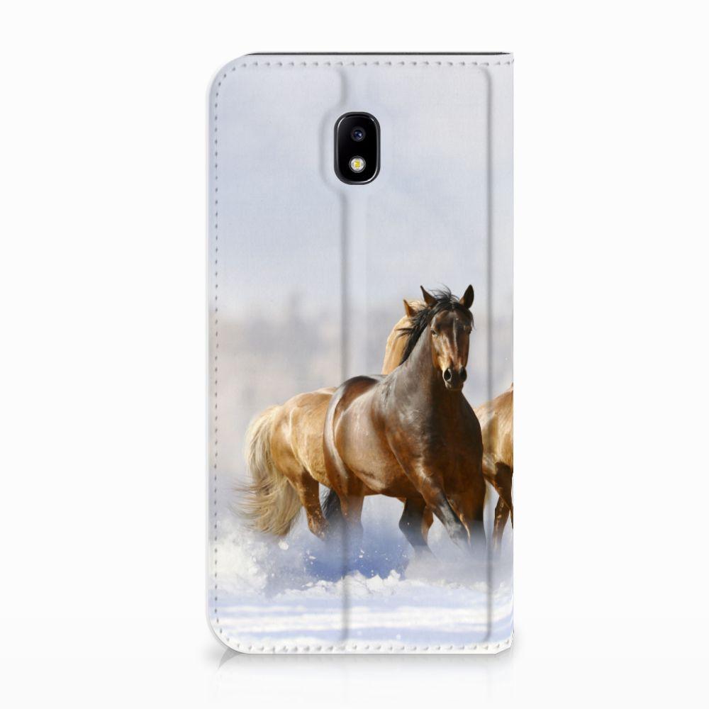 Samsung Galaxy J5 2017 Uniek Standcase Hoesje Paarden
