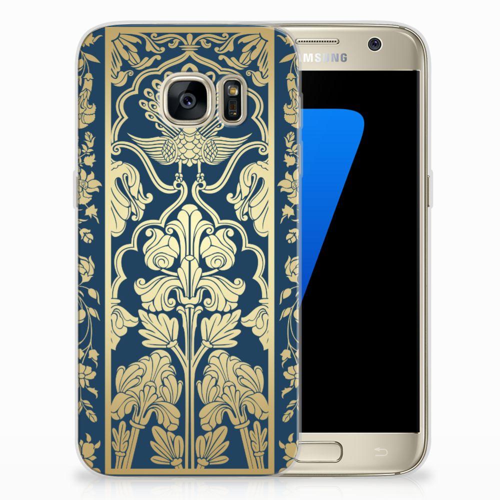 Samsung Galaxy S7 TPU Hoesje Golden Flowers