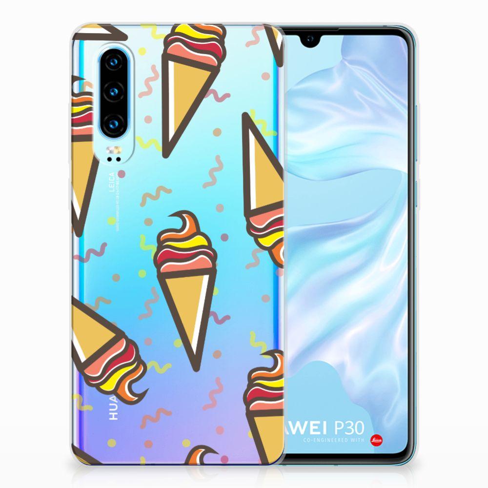 Huawei P30 Siliconen Case Icecream