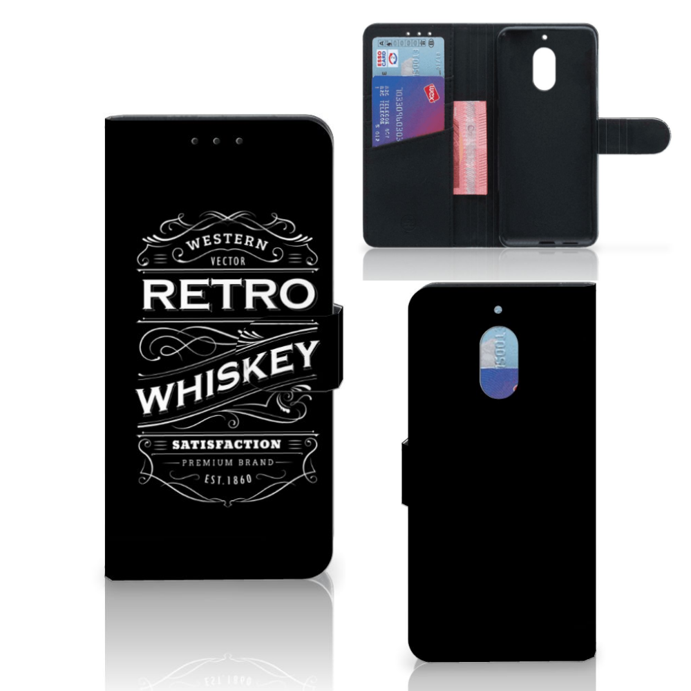 Nokia 6 Book Cover Whiskey