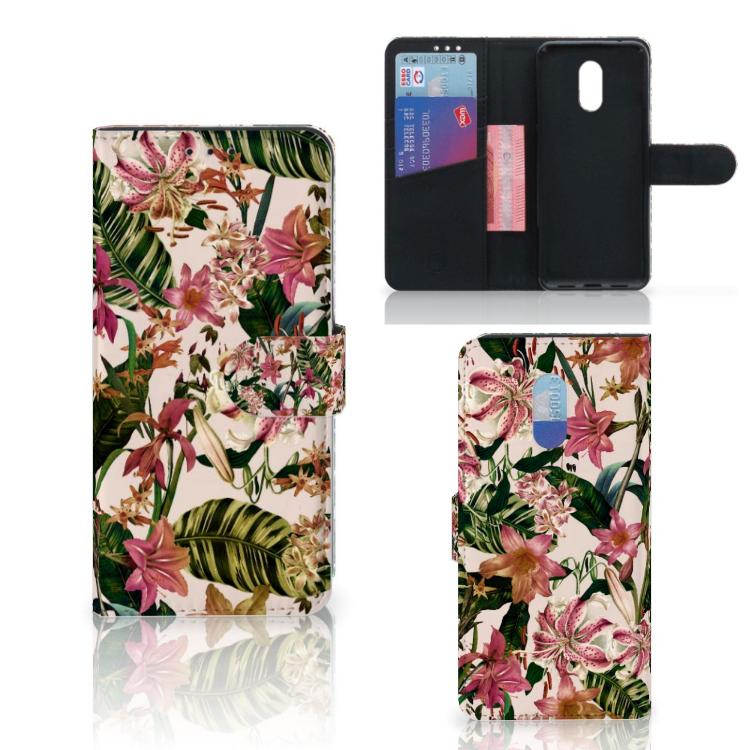 OnePlus 6T Hoesje Flowers