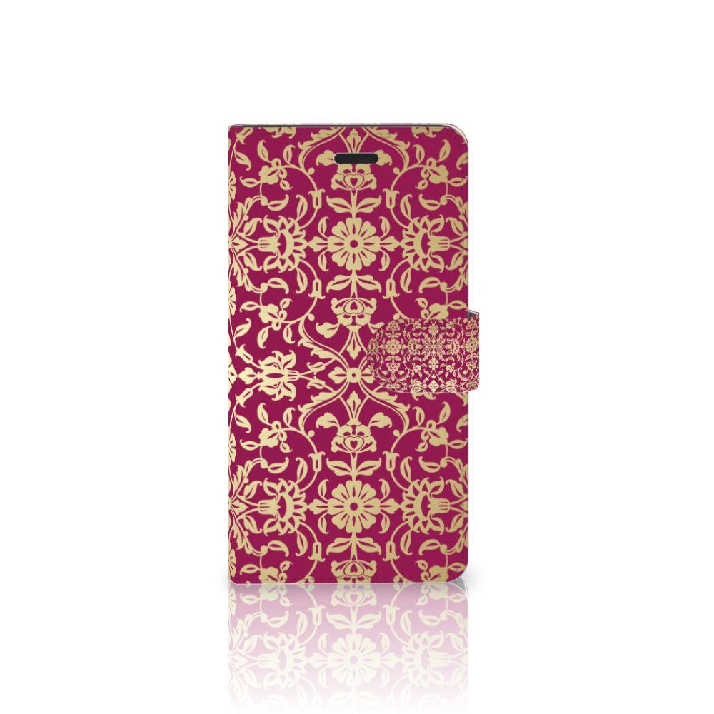 Samsung Galaxy A7 2017 Boekhoesje Design Barok Pink