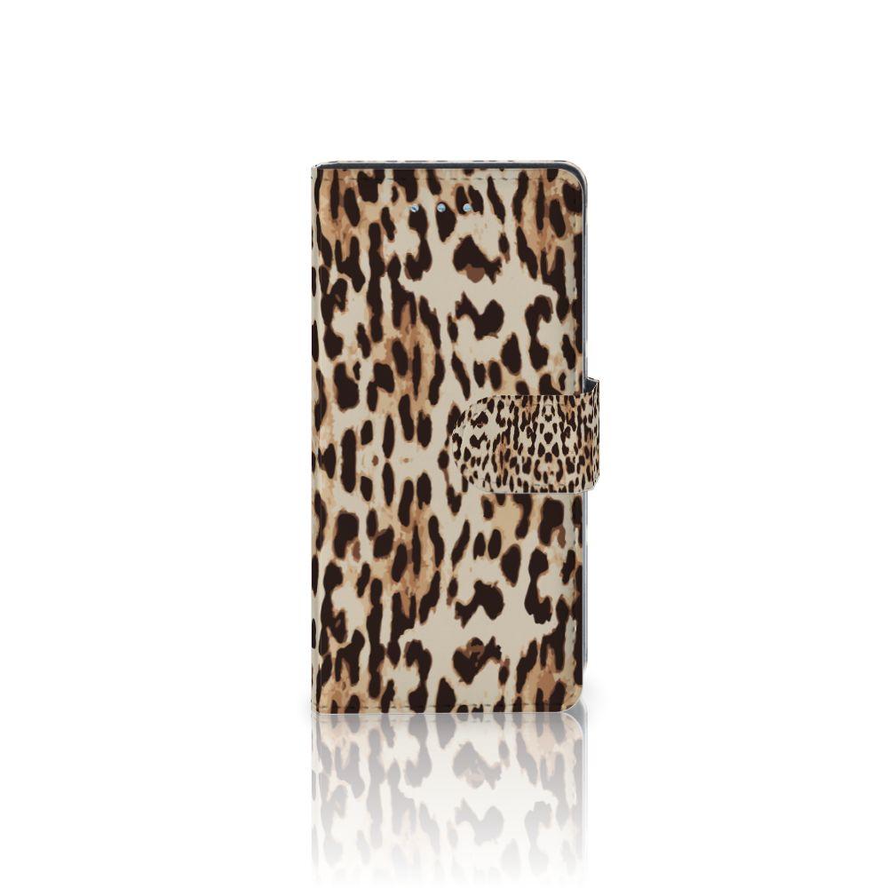 Huawei P9 Lite Uniek Boekhoesje Leopard