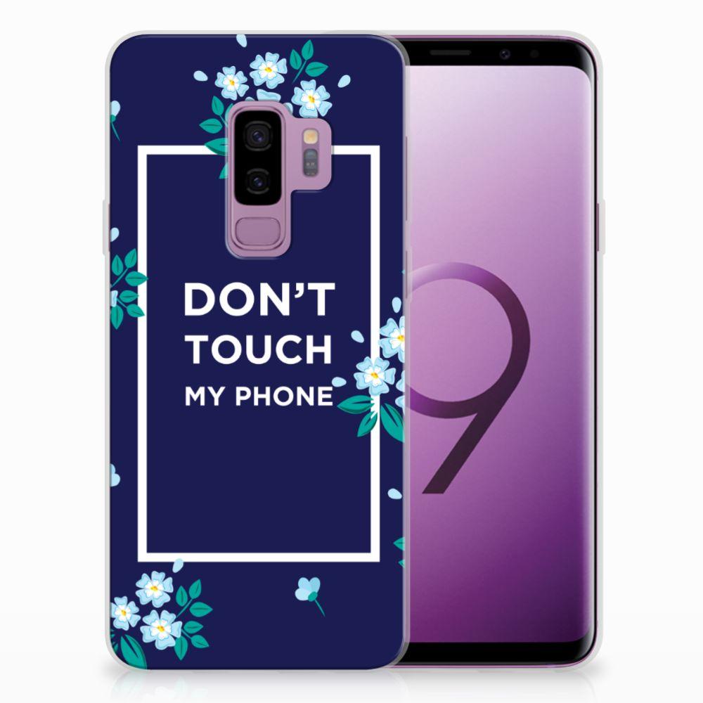 Samsung Galaxy S9 Plus TPU Hoesje Flowers Blue DTMP