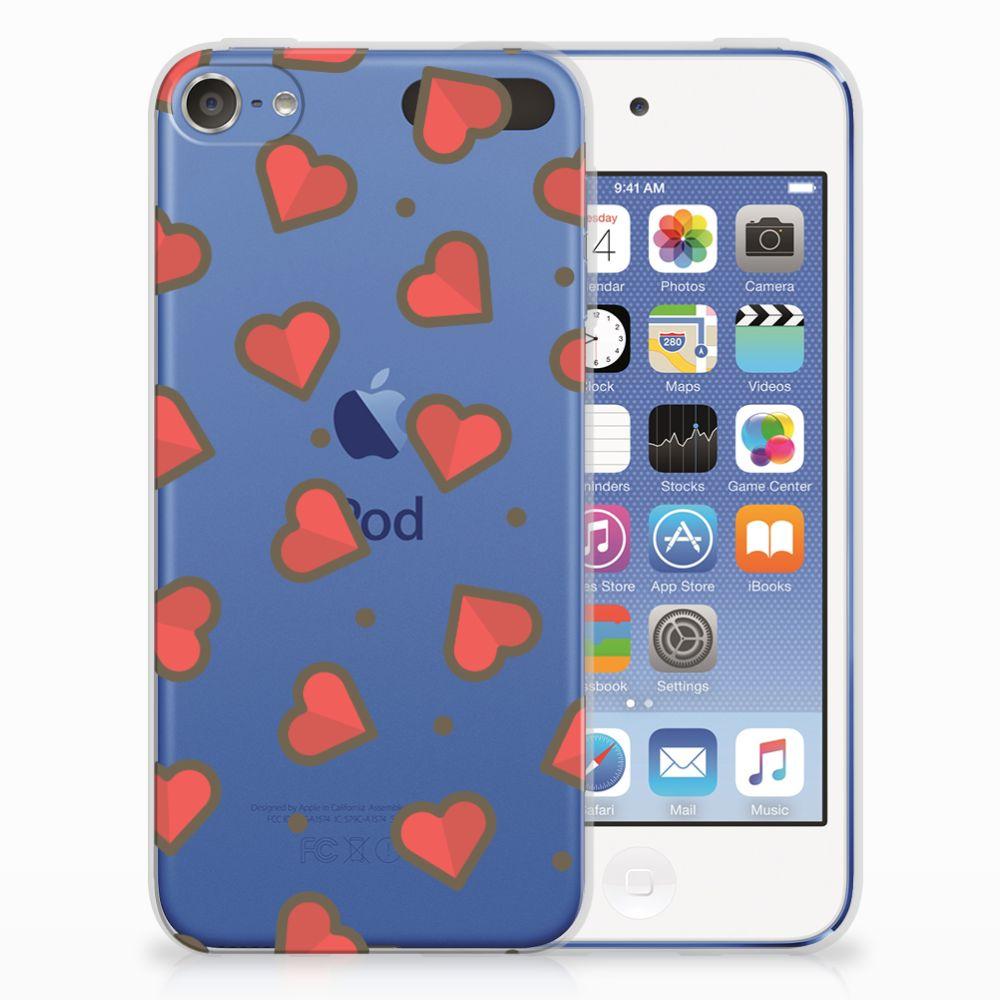 Apple iPod Touch 5   6 TPU bumper Hearts