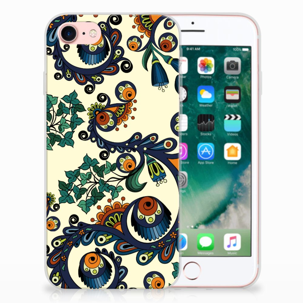 Apple iPhone 7 | 8 TPU Hoesje Design Barok Flower