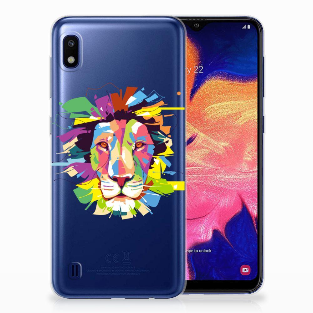 Samsung Galaxy A10 Telefoonhoesje met Naam Lion Color