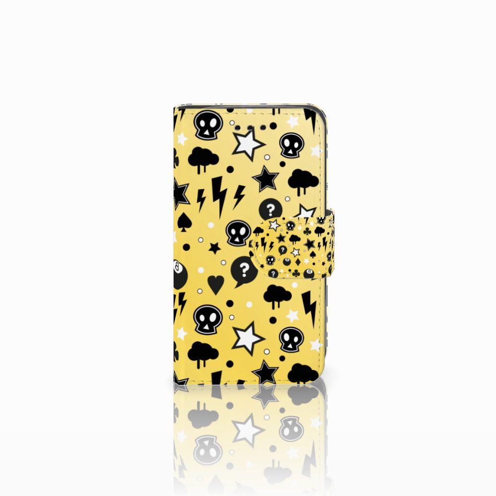 Samsung Galaxy Trend 2 Uniek Boekhoesje Punk Yellow