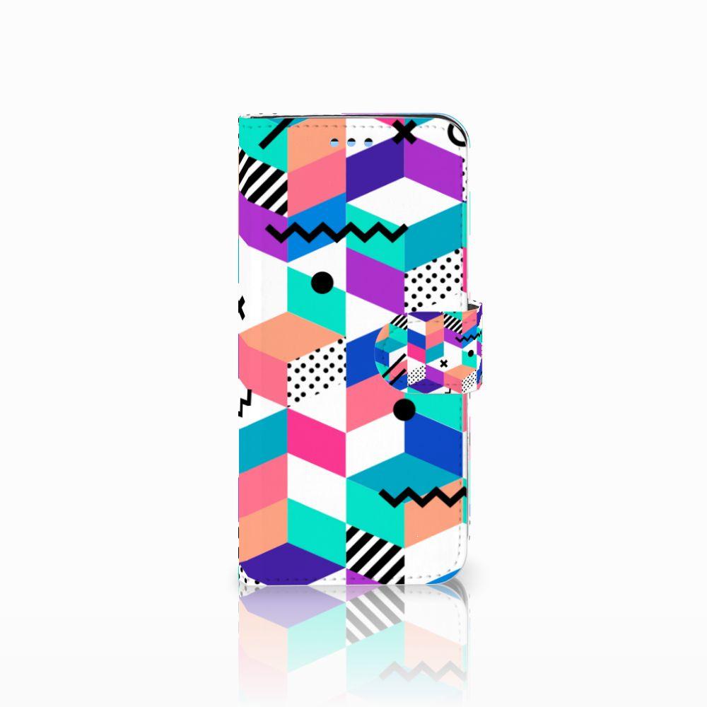 Samsung Galaxy S9 Boekhoesje Design Blocks Colorful