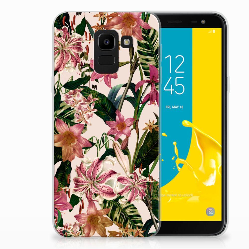 Samsung Galaxy J6 2018 TPU Case Flowers