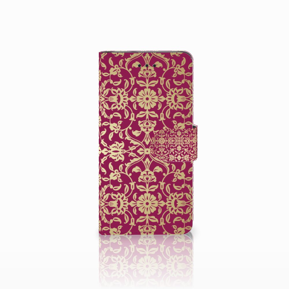 Huawei Y3 2017 Boekhoesje Design Barok Pink