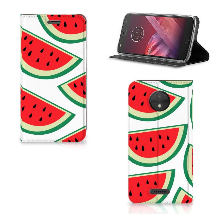 Motorola Moto C Flip Style Cover Watermelons