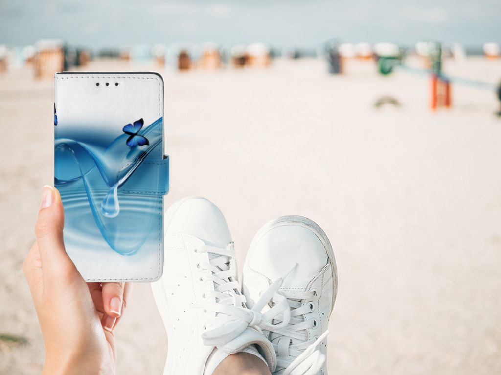 Sony Xperia Z3 Telefoonhoesje met Pasjes Vlinders