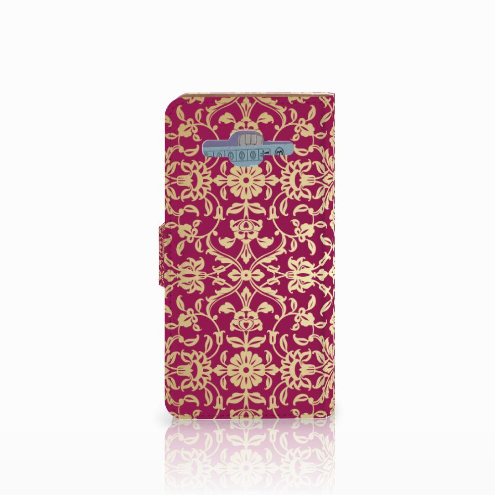 Wallet Case Samsung Galaxy J2 2016 Barok Pink