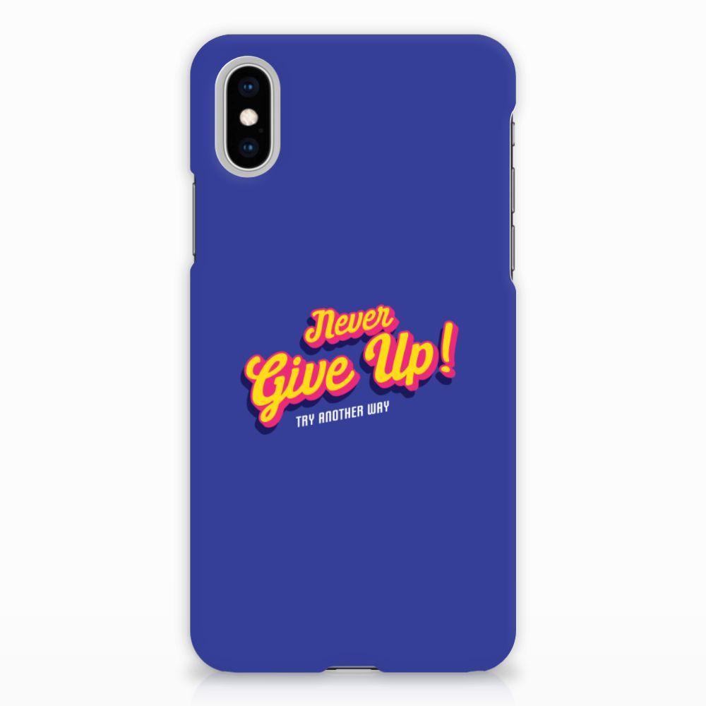Apple iPhone X   Xs Uniek Hardcase Hoesje Never Give Up