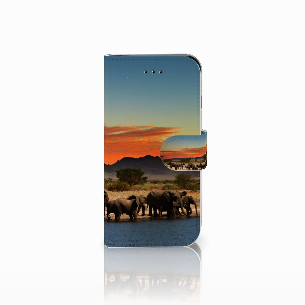 Apple iPhone 6 | 6s Telefoonhoesje met Pasjes Olifanten