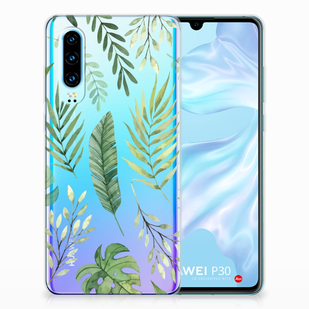Huawei P30 TPU Case Leaves