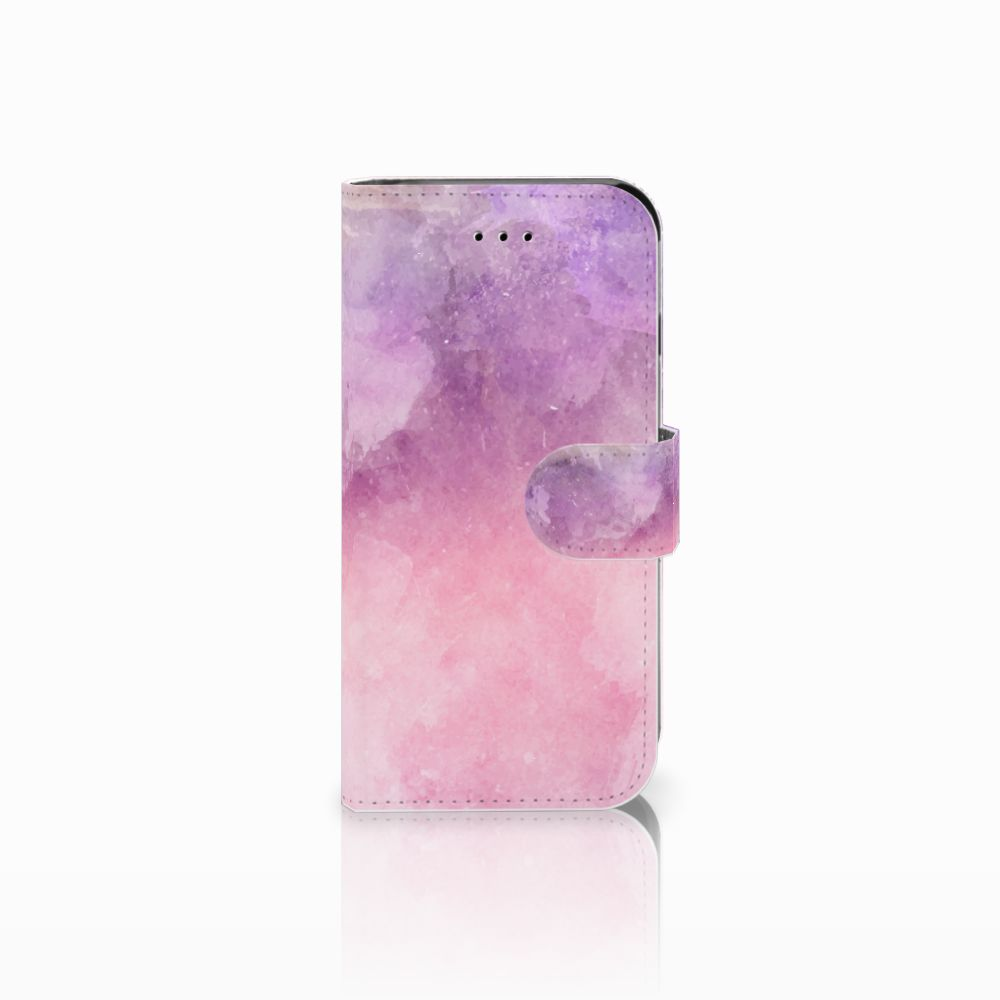 Apple iPhone 6 | 6s Boekhoesje Design Pink Purple Paint