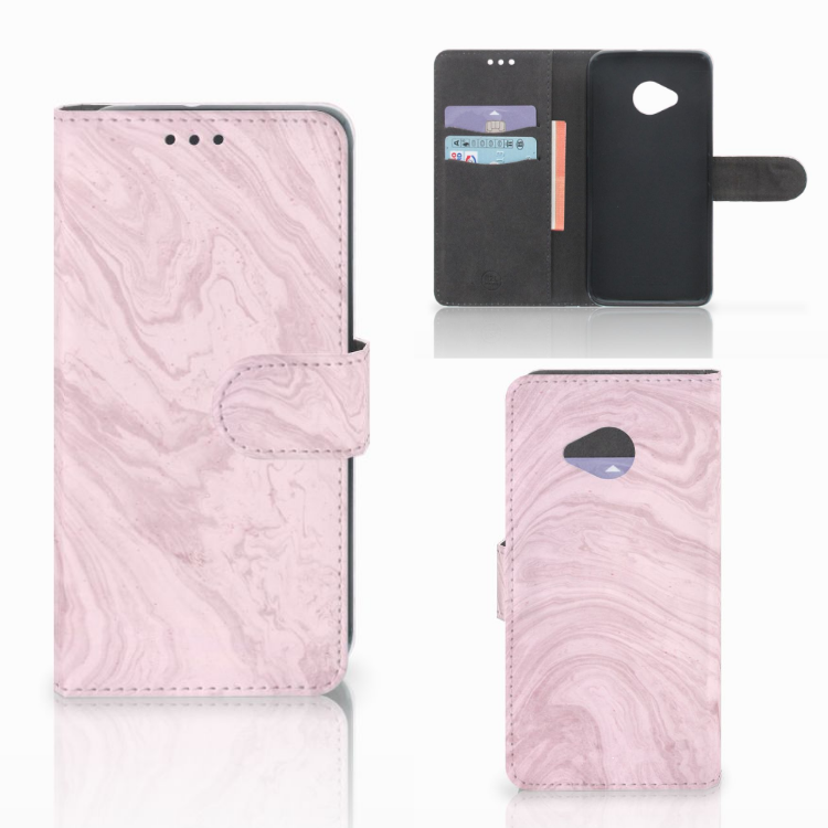 HTC U11 Life Bookcase Marble Pink