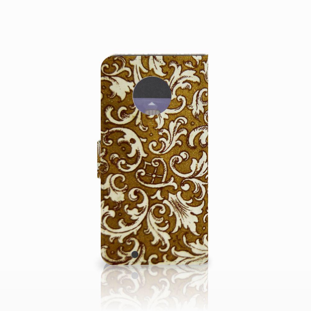 Wallet Case Motorola Moto G6 Barok Goud
