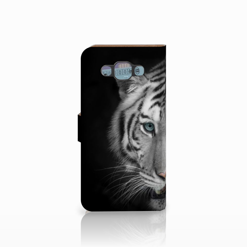 Samsung Galaxy E7 Telefoonhoesje met Pasjes Tijger