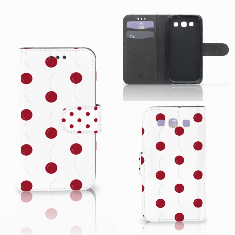 Samsung Galaxy S3 i9300 Book Cover Cherries