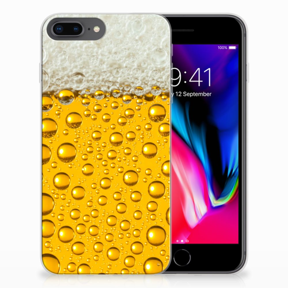 Apple iPhone 7 Plus | 8 Plus Siliconen Case Bier